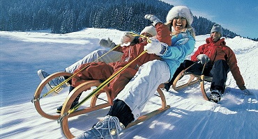 Tobogganing at the Brixen Valley